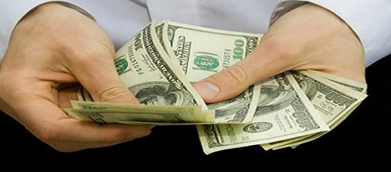 Cash in hand!